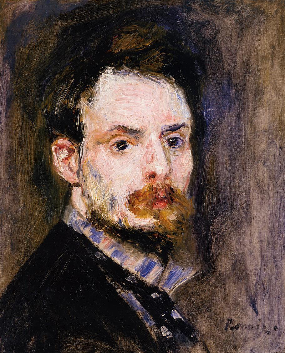 Self Portrait 1875 | Pierre Auguste Renoir | Oil Painting