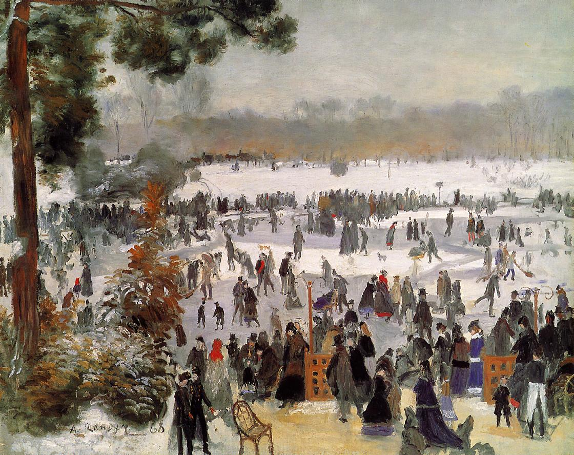 Skaters in the Boid de Boulogne 1868 | Pierre Auguste Renoir | Oil Painting