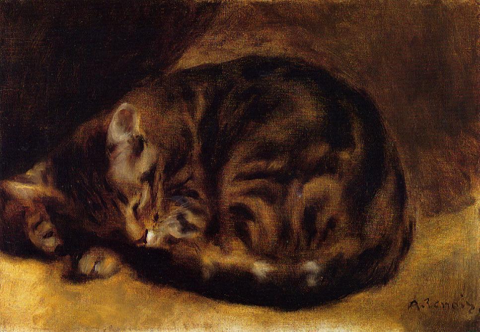 Sleeping Cat 1862 | Pierre Auguste Renoir | Oil Painting