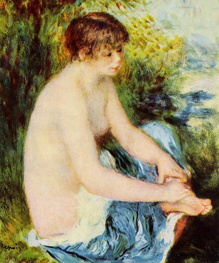 Small Nude in Blue 1879 | Pierre Auguste Renoir | Oil Painting