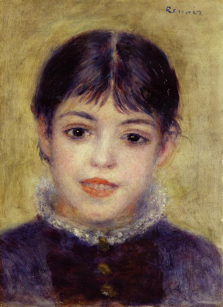 Smiling Young Girl 1878 | Pierre Auguste Renoir | Oil Painting