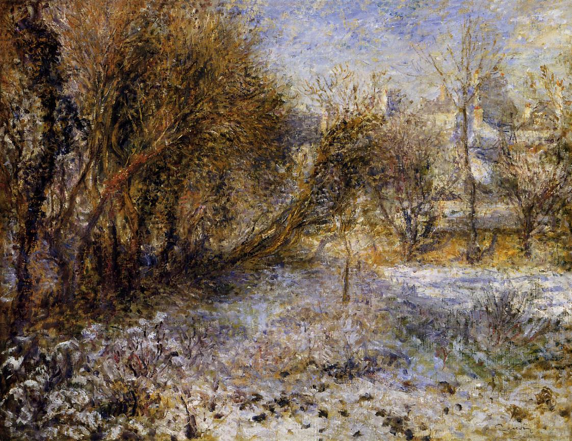 Snowy Landscape 1875 | Pierre Auguste Renoir | Oil Painting