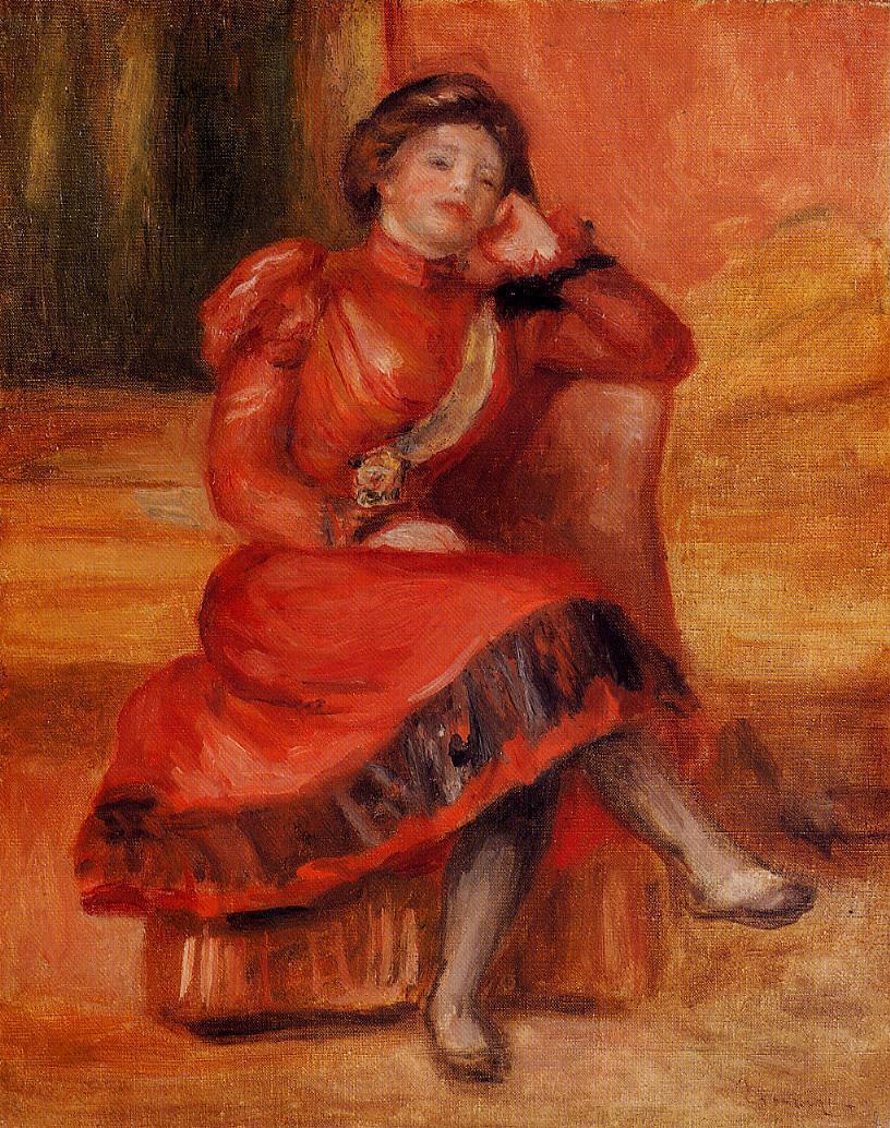 Spanish Dancer in a Red Dress 1896 | Pierre Auguste Renoir | Oil Painting