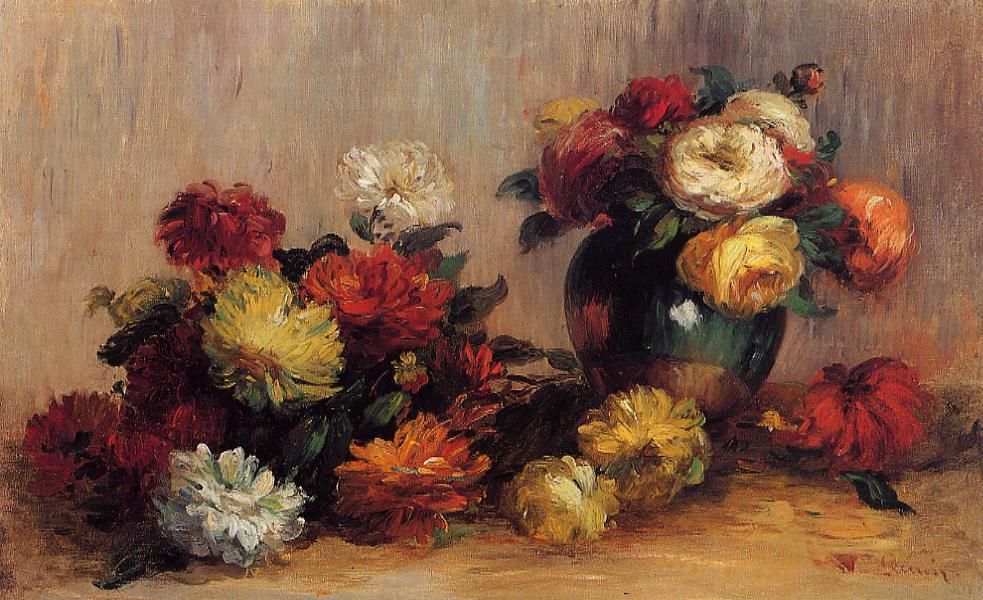 Sprays of Flowers 1880 | Pierre Auguste Renoir | Oil Painting