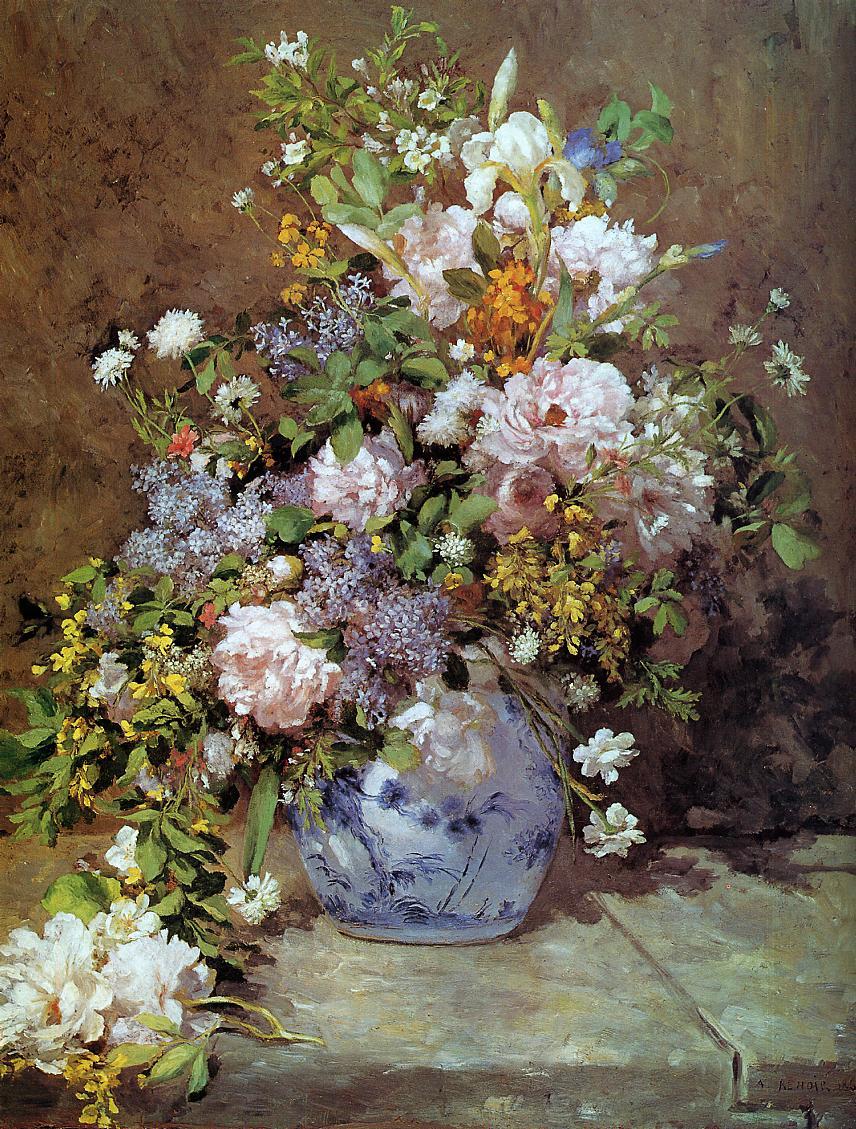 Spring Bouquet 1866 | Pierre Auguste Renoir | Oil Painting