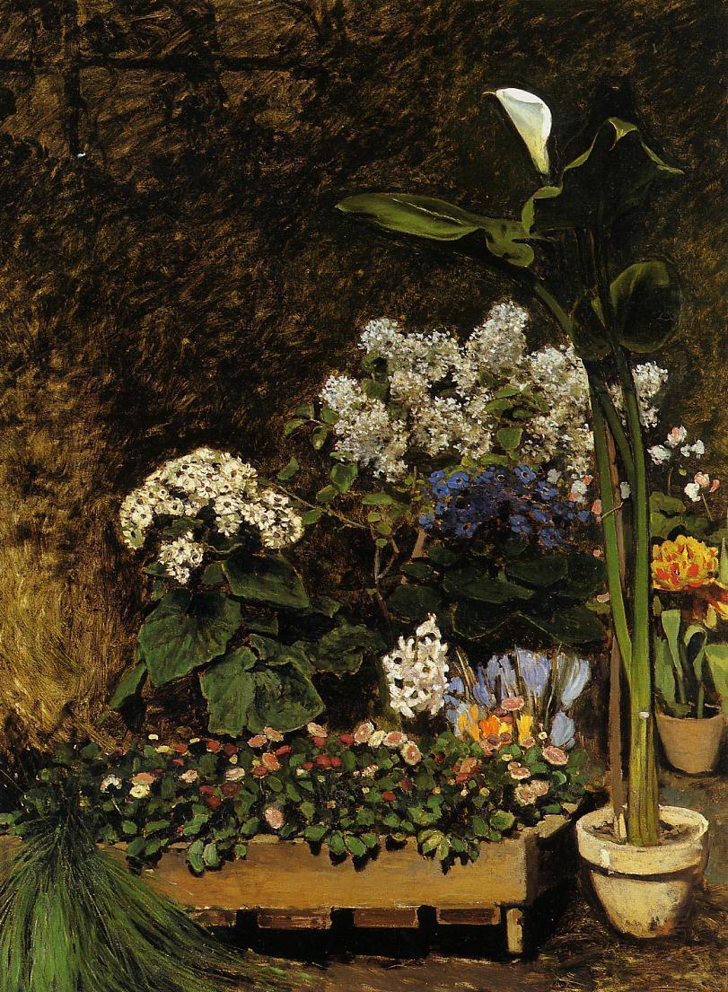 Spring Flowers 1864 | Pierre Auguste Renoir | Oil Painting