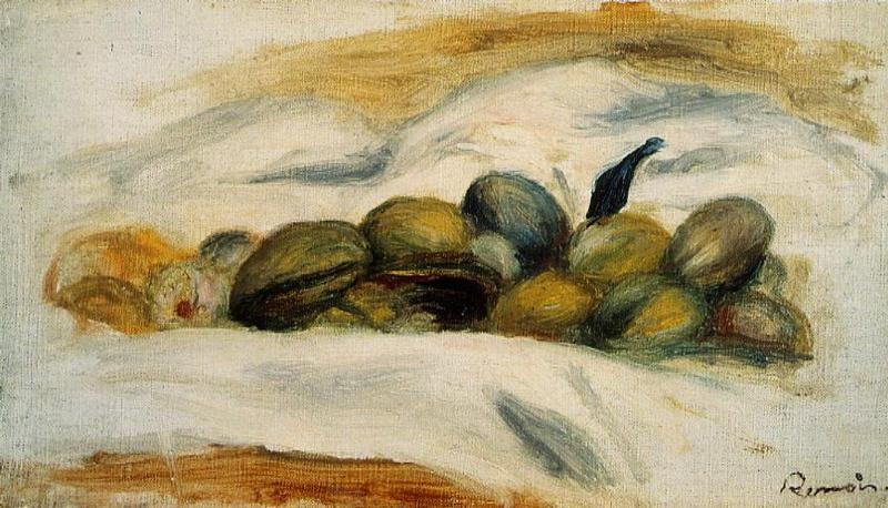 Still Life - Almonds and Walnuts 1905 | Pierre Auguste Renoir | Oil Painting