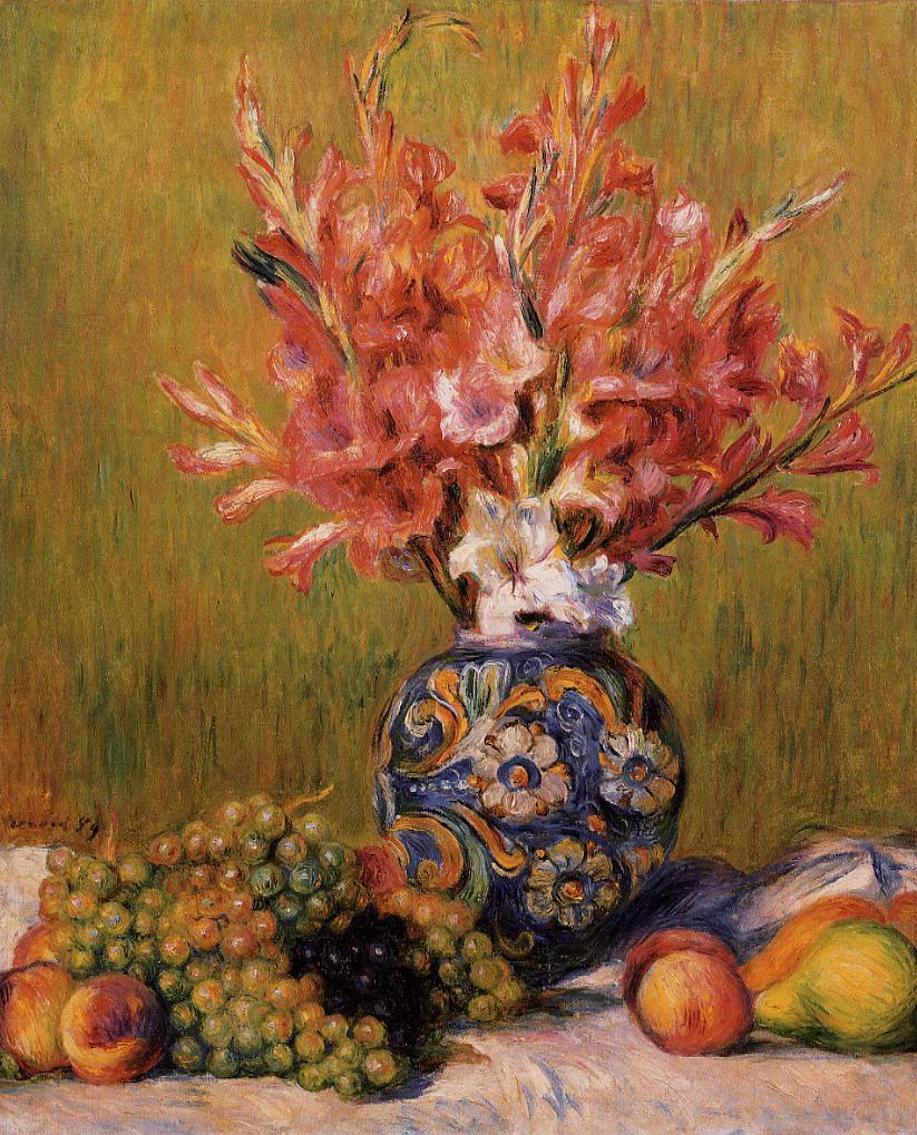 Still Life - Flowers and Fruit 1889 | Pierre Auguste Renoir | Oil Painting