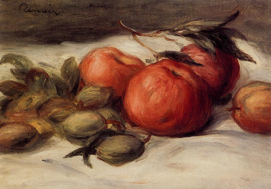 Still Life with Apples and Almonds | Pierre Auguste Renoir | Oil Painting