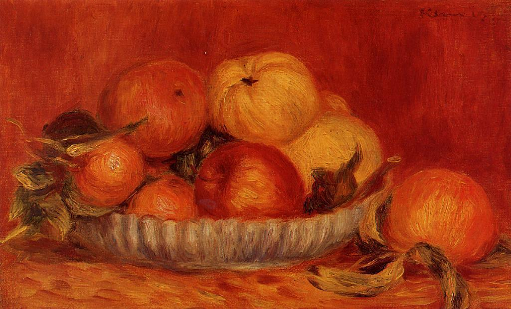 Still Life with Apples and Oranges1 1897 | Pierre Auguste Renoir | Oil Painting