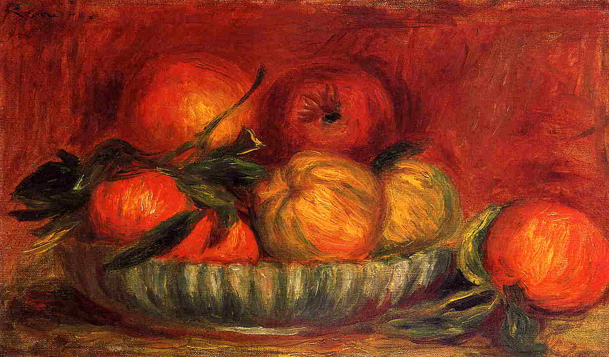 Still Life with Apples and Oranges2 1897 | Pierre Auguste Renoir | Oil Painting