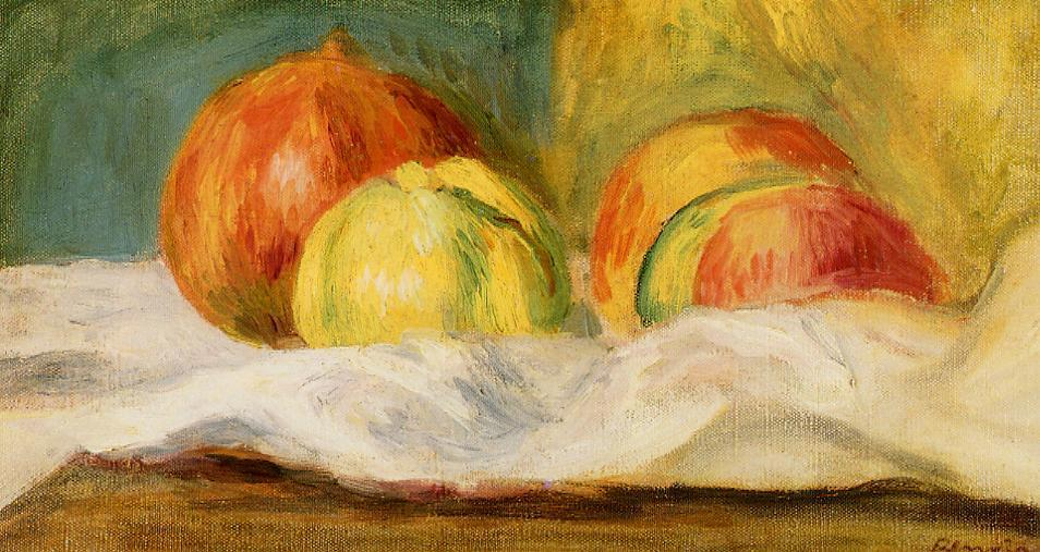 Still Life with Apples and Pomegranates 1901 | Pierre Auguste Renoir | Oil Painting