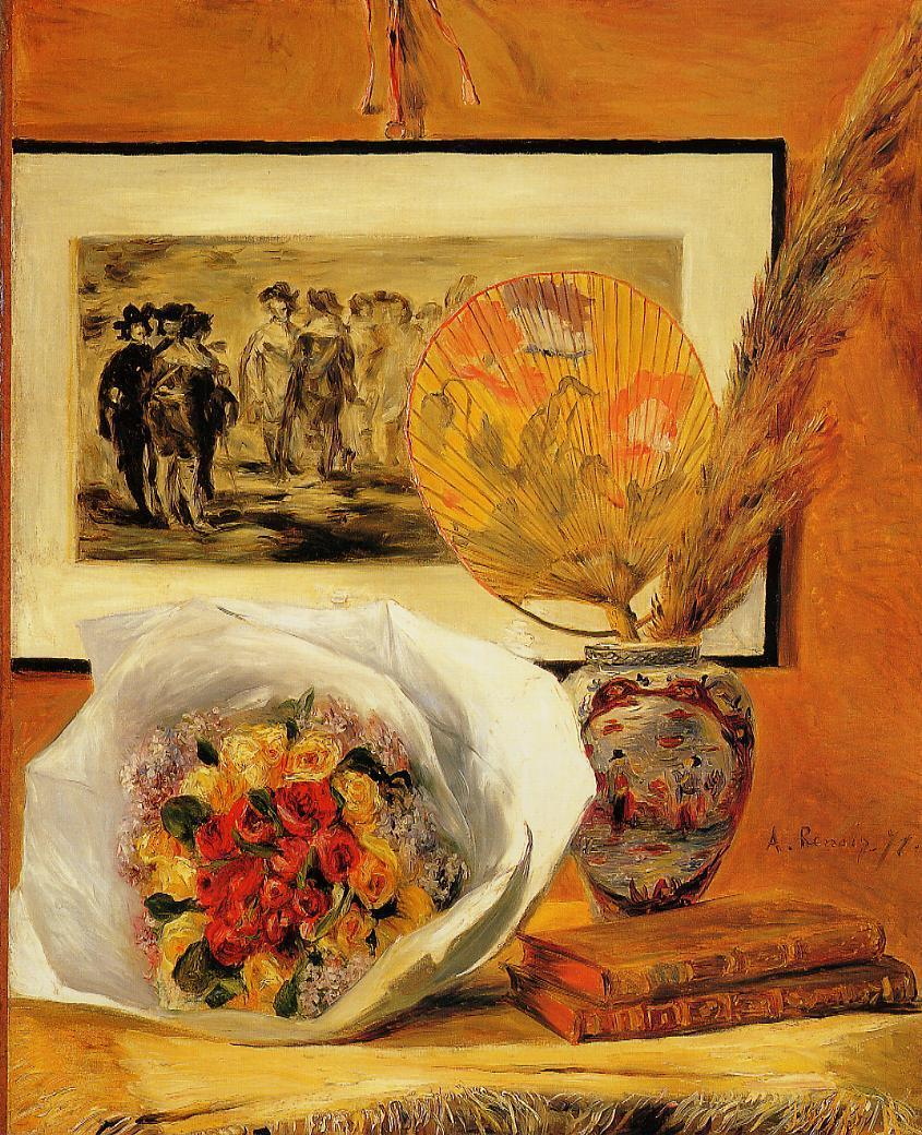 Still Life with Bouquet 1871 | Pierre Auguste Renoir | Oil Painting