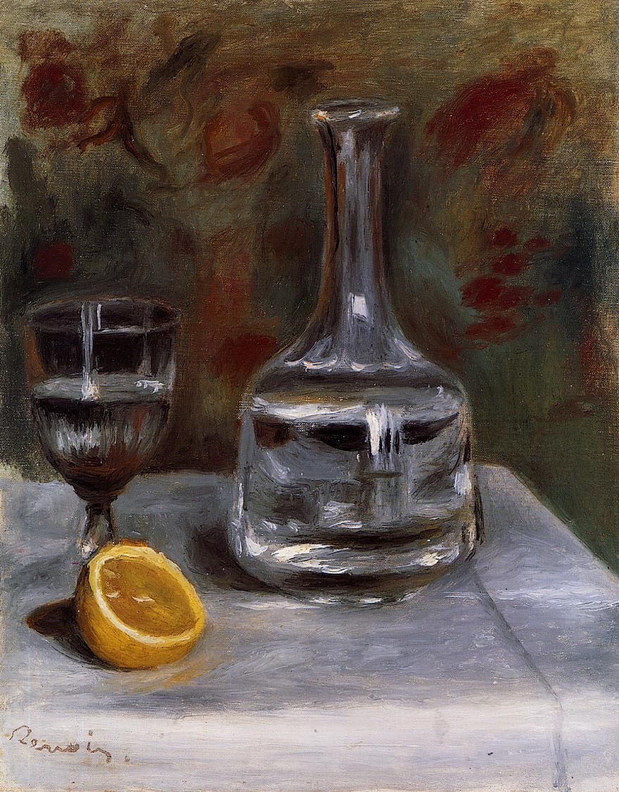 Still Life with Carafe 1892 | Pierre Auguste Renoir | Oil Painting