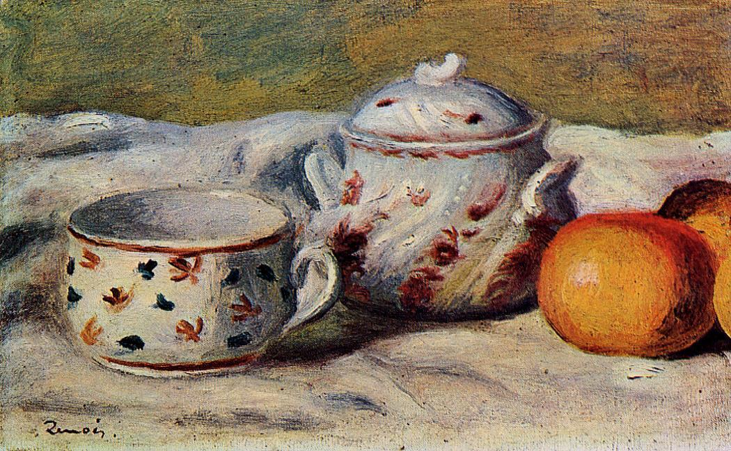 Still Life with Cup and Sugar Bowl 1904 | Pierre Auguste Renoir | Oil Painting