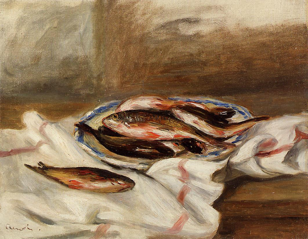 Still Life with Fish 1890 | Pierre Auguste Renoir | Oil Painting