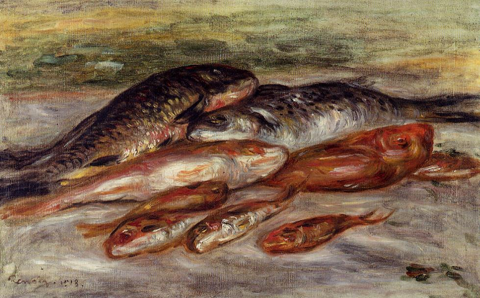 Still Life with Fish 1913 | Pierre Auguste Renoir | Oil Painting