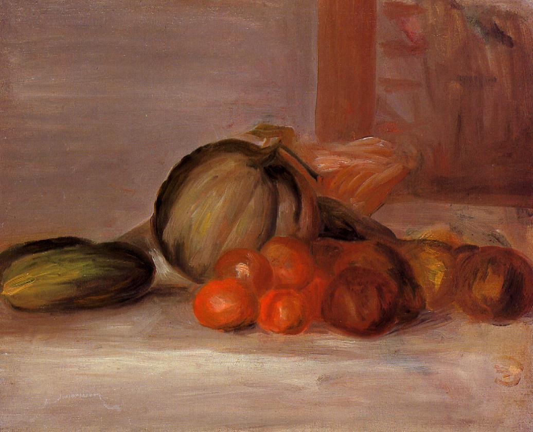 Still Life with Melon | Pierre Auguste Renoir | Oil Painting