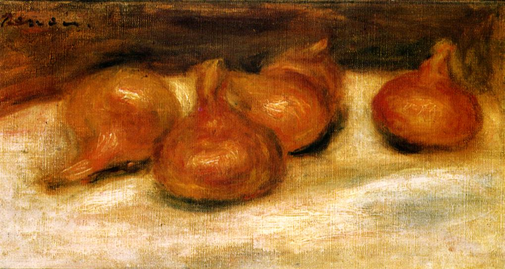 Still Life with Onions 1917 | Pierre Auguste Renoir | Oil Painting
