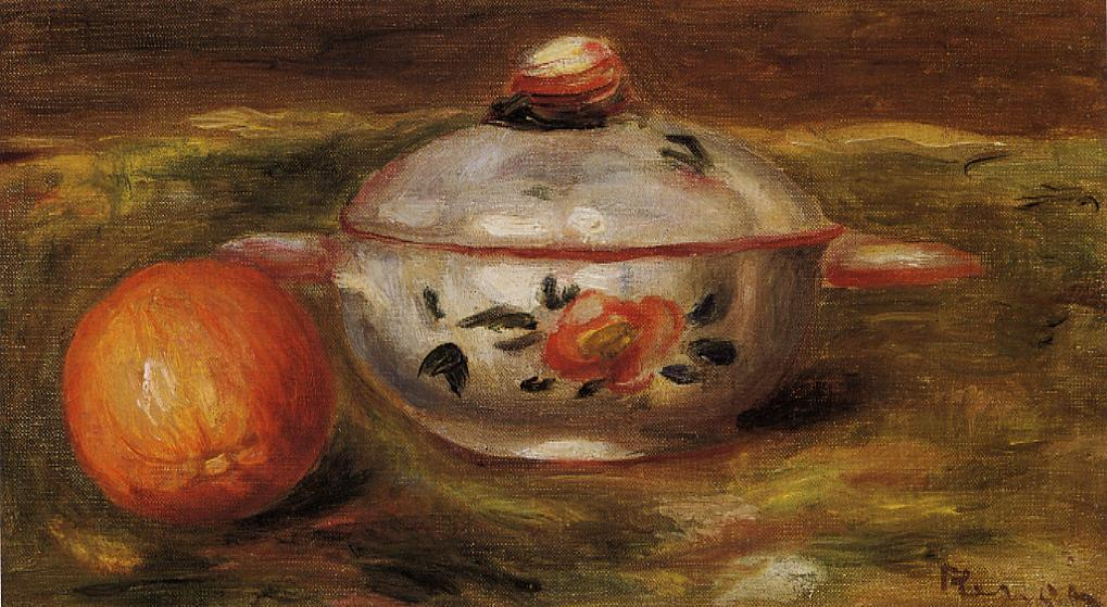 Still Life with Orange and Sugar Bowl | Pierre Auguste Renoir | Oil Painting