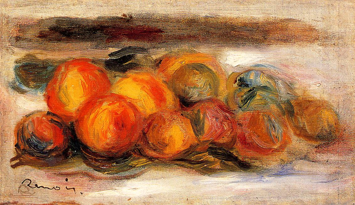 Still Life with Peaches1 | Pierre Auguste Renoir | Oil Painting
