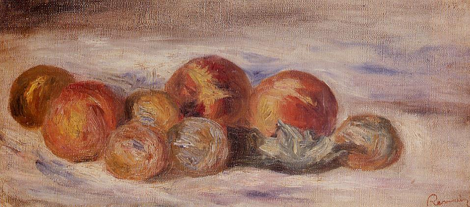 Still Life with Peaches2 | Pierre Auguste Renoir | Oil Painting