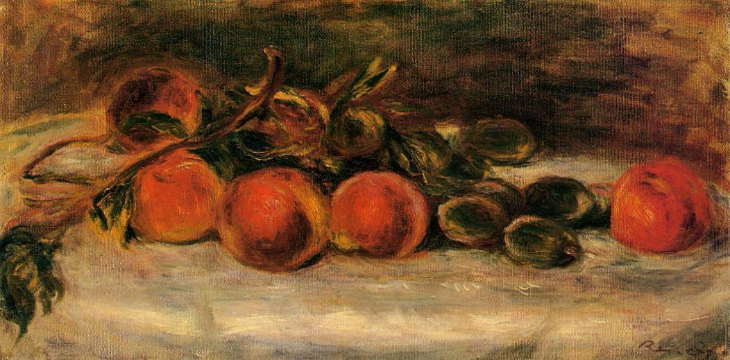 Still Life with Peaches and Chestnuts | Pierre Auguste Renoir | Oil Painting