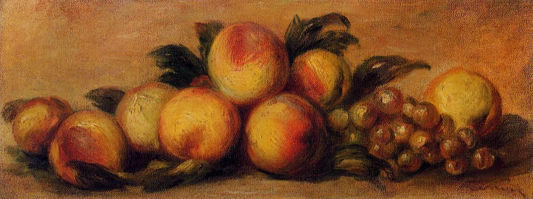 Still Life with Peaches and Grapes | Pierre Auguste Renoir | Oil Painting