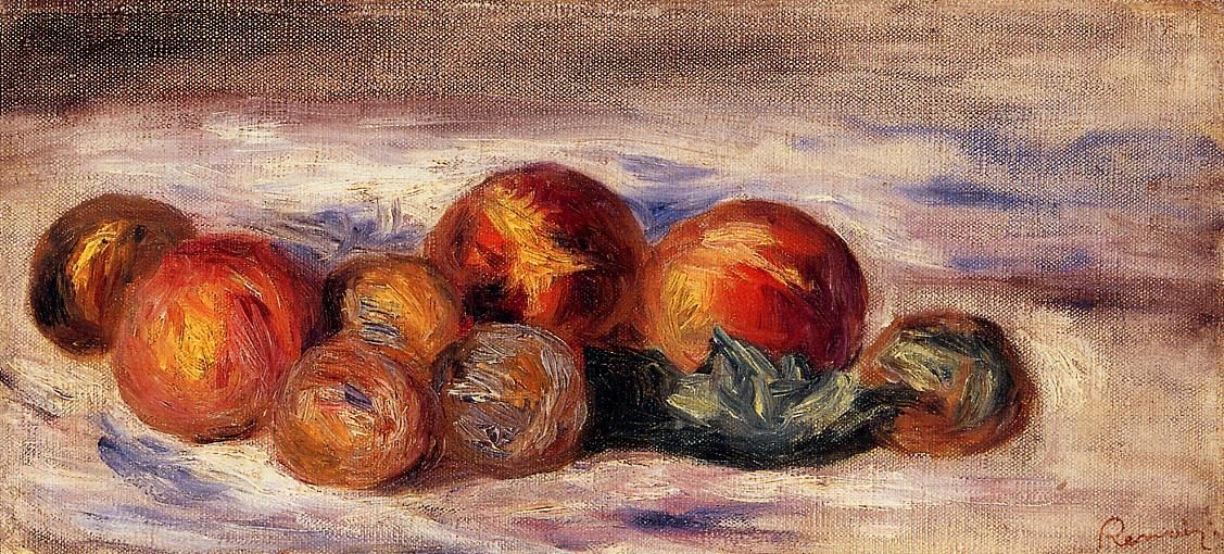 Still Life with Peaches 1916 | Pierre Auguste Renoir | Oil Painting