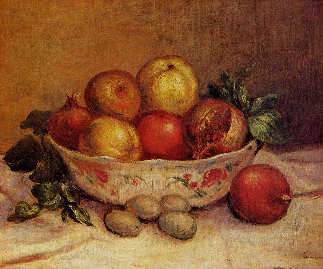 Still Life with Pomegranates 1893 | Pierre Auguste Renoir | Oil Painting