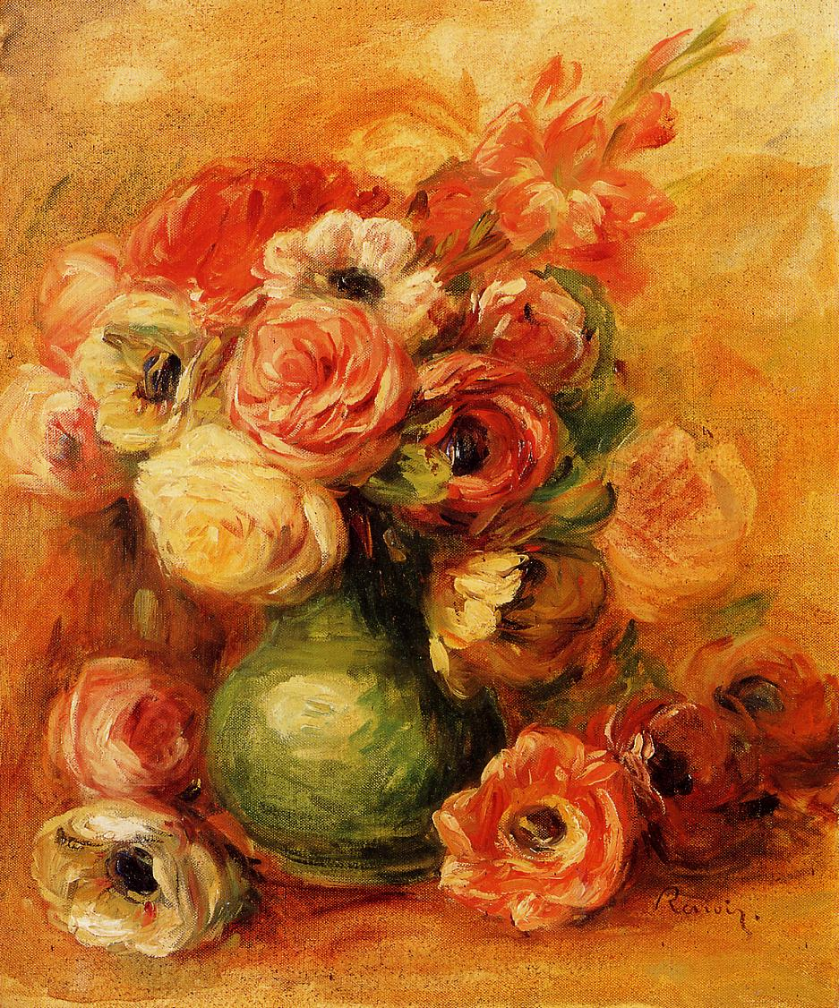 Still Life with Roses 1910 | Pierre Auguste Renoir | Oil Painting