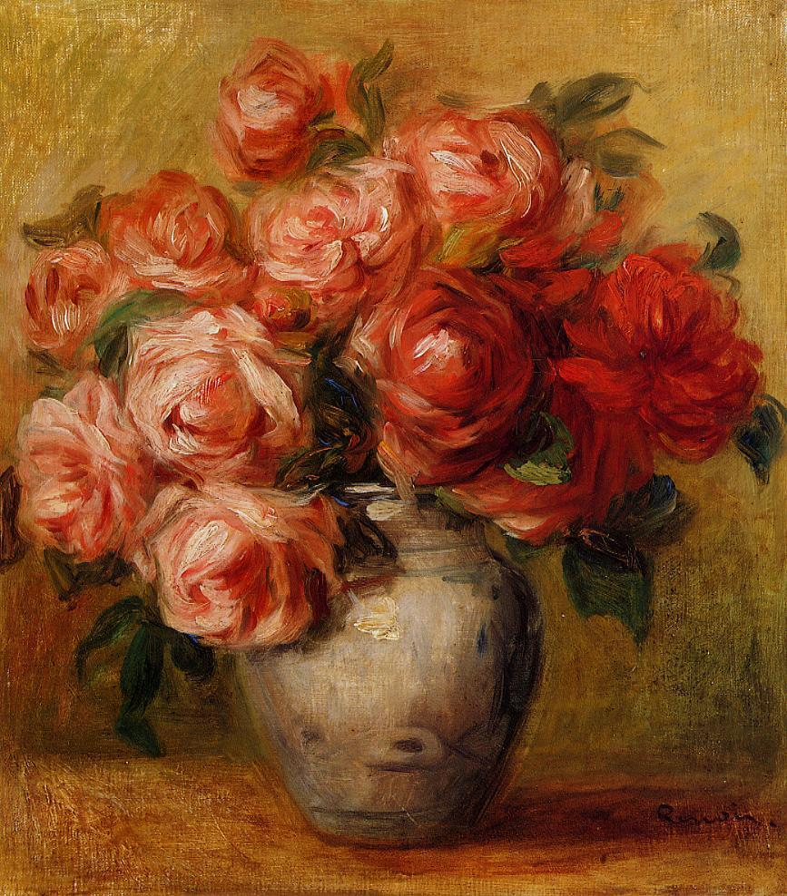 Still Life with Roses | Pierre Auguste Renoir | Oil Painting