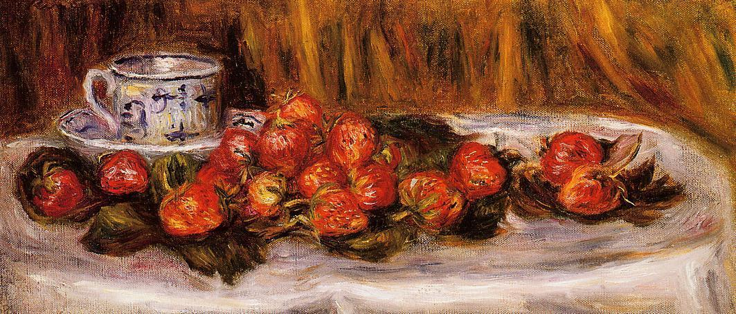 Still Life with Strawberries 1905 | Pierre Auguste Renoir | Oil Painting