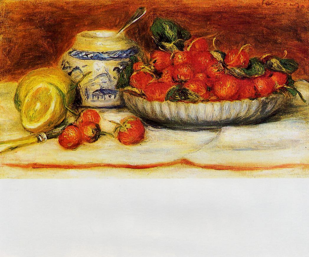 Strawberries 1905 | Pierre Auguste Renoir | Oil Painting