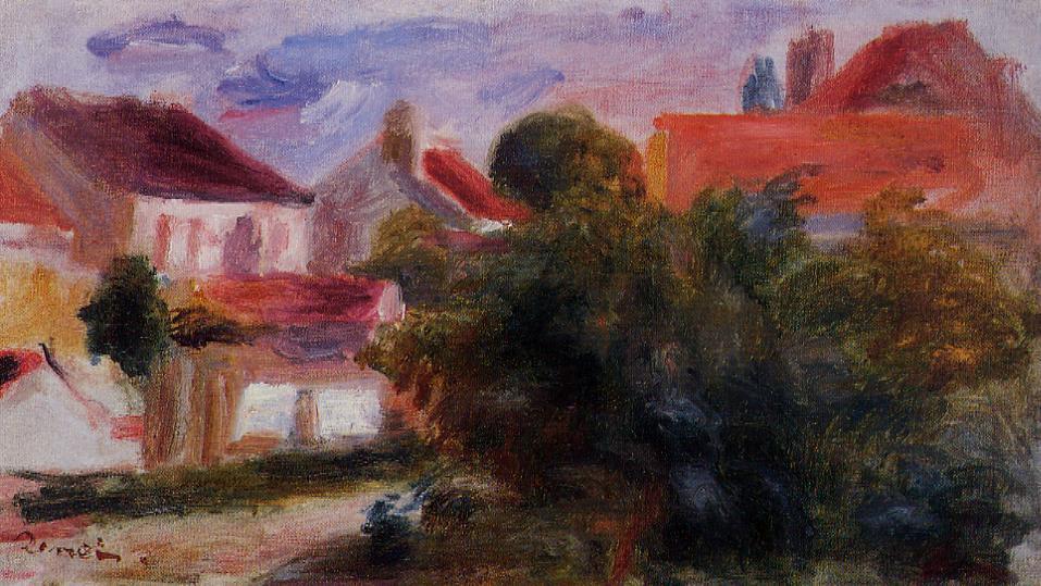 Street in Essoyes | Pierre Auguste Renoir | Oil Painting