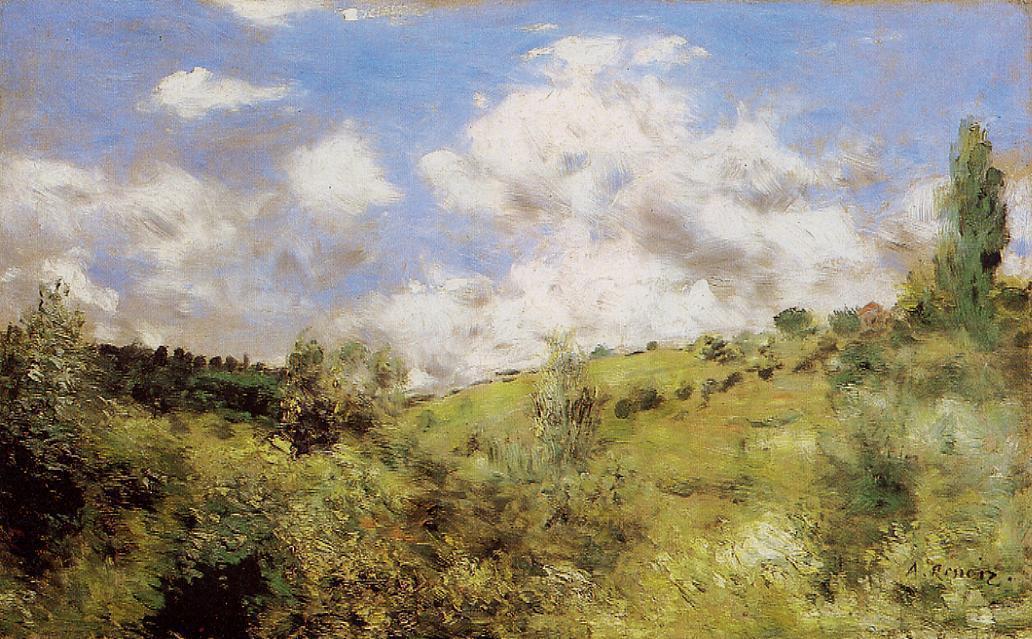Strong Wind (aka Gust of Wind) 1872 | Pierre Auguste Renoir | Oil Painting