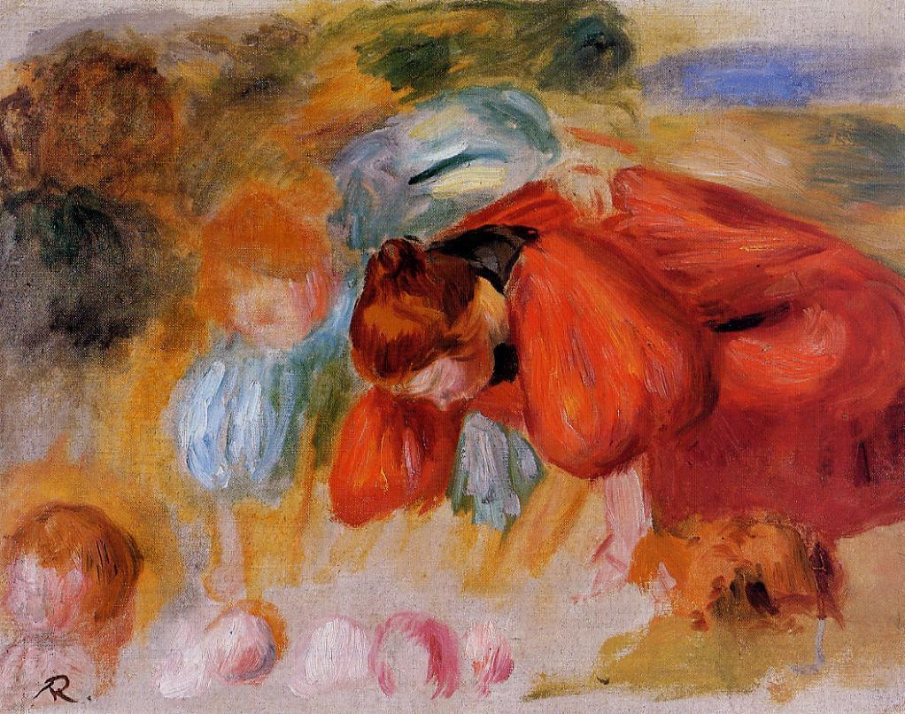 Study for The Croquet Game 1892 | Pierre Auguste Renoir | Oil Painting
