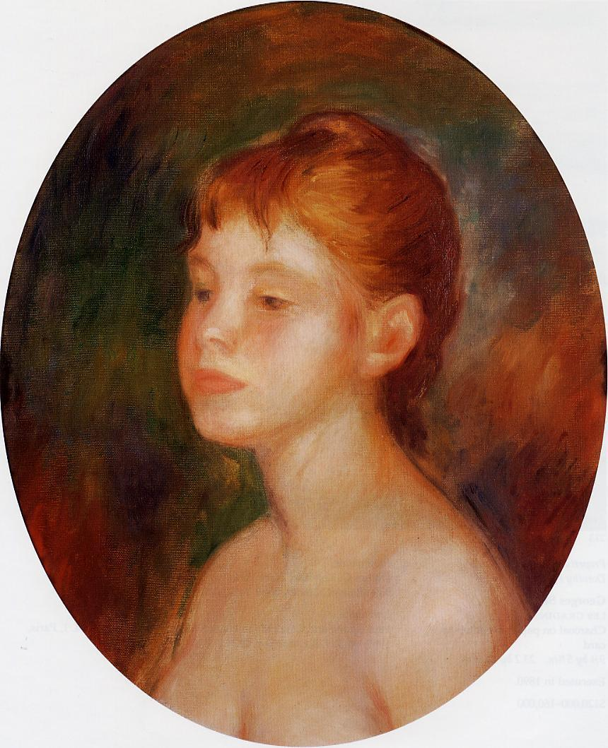 Study of a Young Girl (aka Mademoiselle Murer) 1882 | Pierre Auguste Renoir | Oil Painting