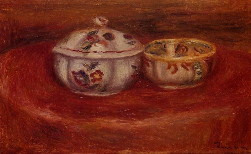 Sugar Bowl and Earthenware Bowl | Pierre Auguste Renoir | Oil Painting
