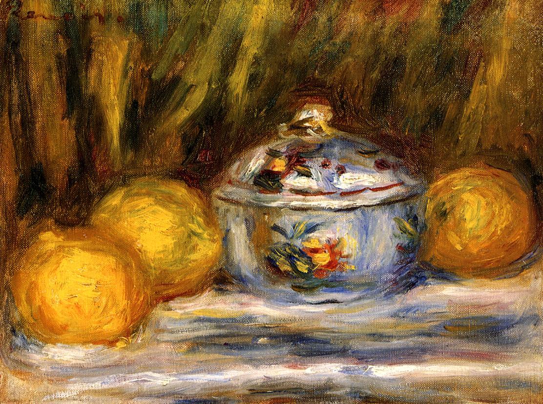 Sugar Bowl and Lemons 1915 | Pierre Auguste Renoir | Oil Painting