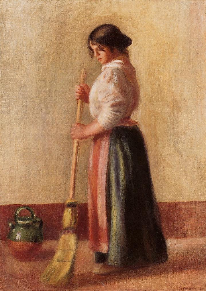 Sweeper 1889 | Pierre Auguste Renoir | Oil Painting