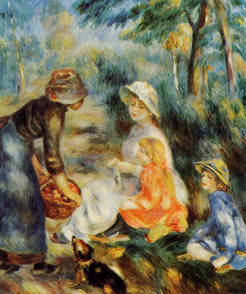 The Apple Seller 1890 | Pierre Auguste Renoir | Oil Painting