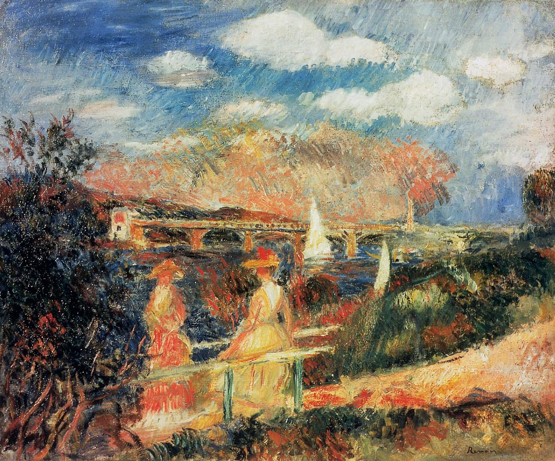 The Banks of the Seine at Argenteuil 1880   Pierre Auguste Renoir   Oil Painting