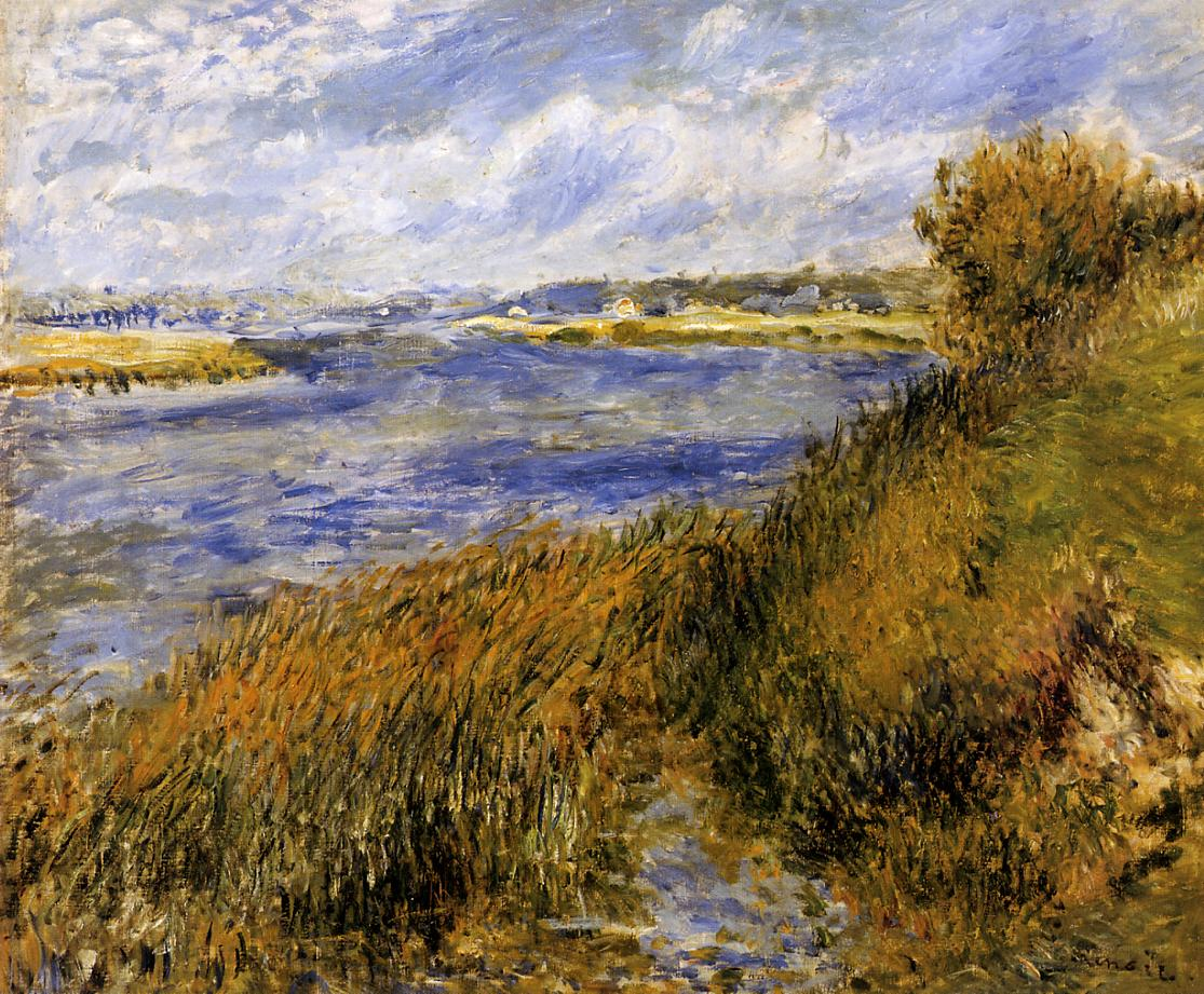The Banks of the Seine at Champrosay 1876   Pierre Auguste Renoir   Oil Painting