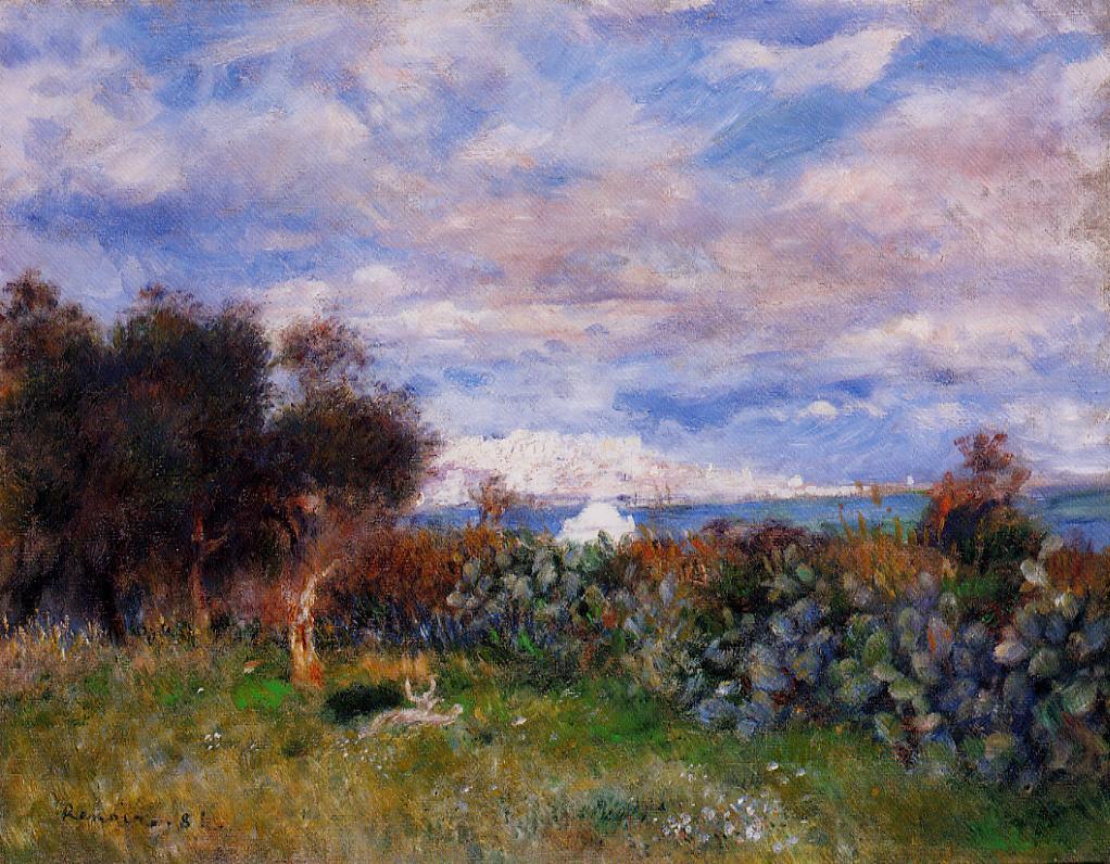 The Bay of Algiers 1881 | Pierre Auguste Renoir | Oil Painting