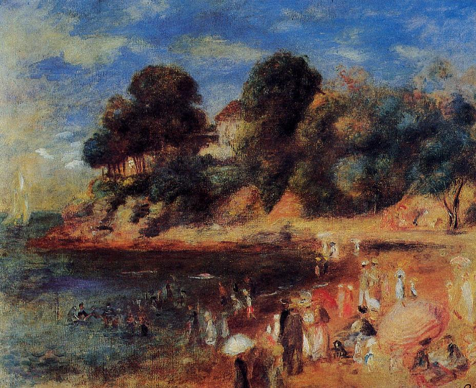 The Beach at Purnic 1892 | Pierre Auguste Renoir | Oil Painting