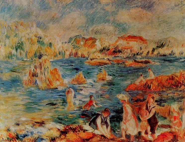 The Bech at Gurnsey 1882-1883 | Pierre Auguste Renoir | Oil Painting