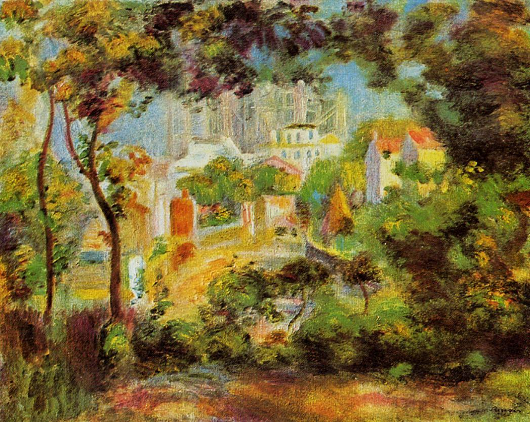 The Building of Sacred Heart 1900 | Pierre Auguste Renoir | Oil Painting