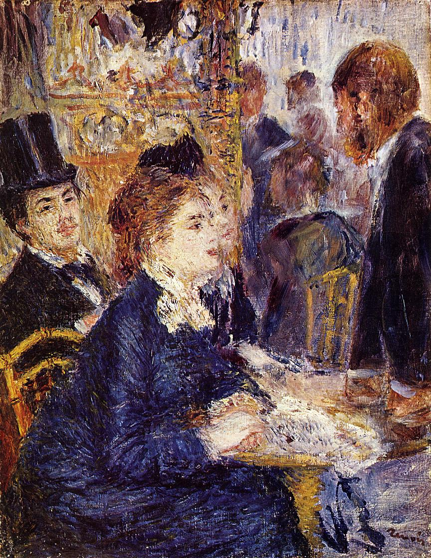 The Cafe 1874-1875 | Pierre Auguste Renoir | Oil Painting