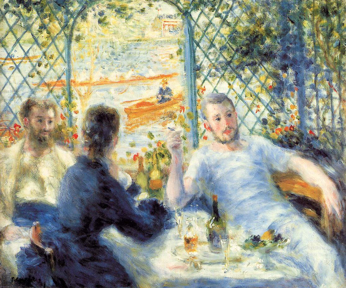 The Canoeists Luncheon 1879-1880 | Pierre Auguste Renoir | Oil Painting